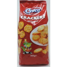 CROCO CRACKERS SALTED 15/400G